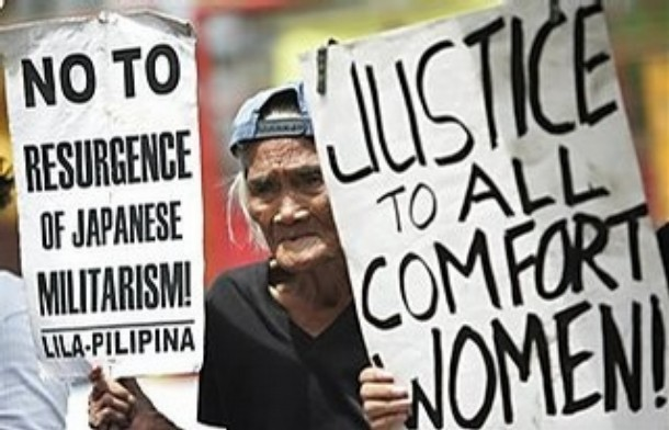 Elderly Filipino women and their supporters demanded Tokyo's clear-cut ...